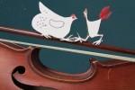 poule coq violon